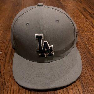 Grey LA dodgers Hat 7 1/4